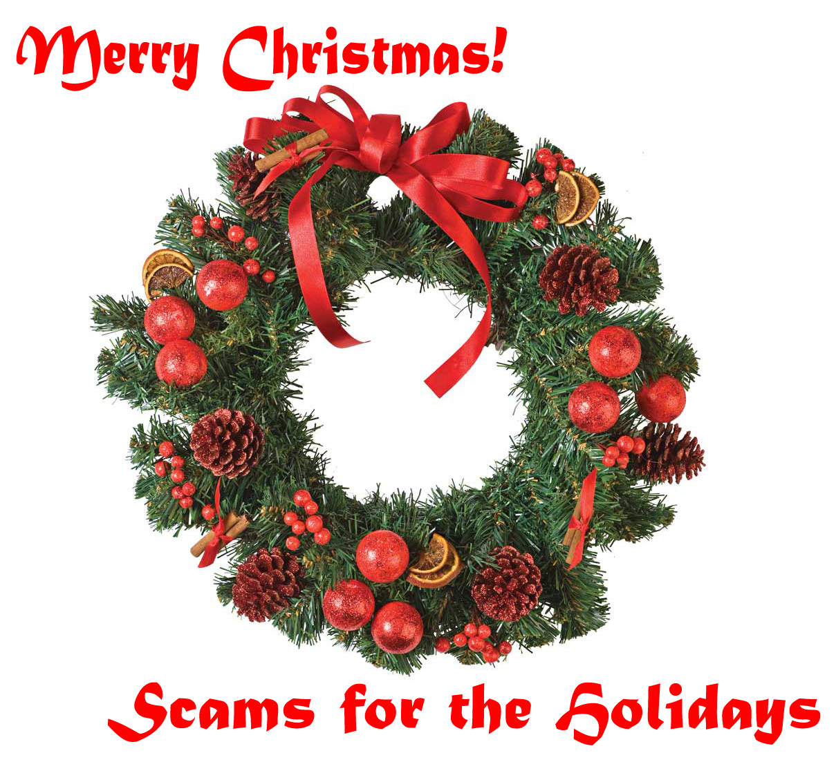Holiday Scams Illustration