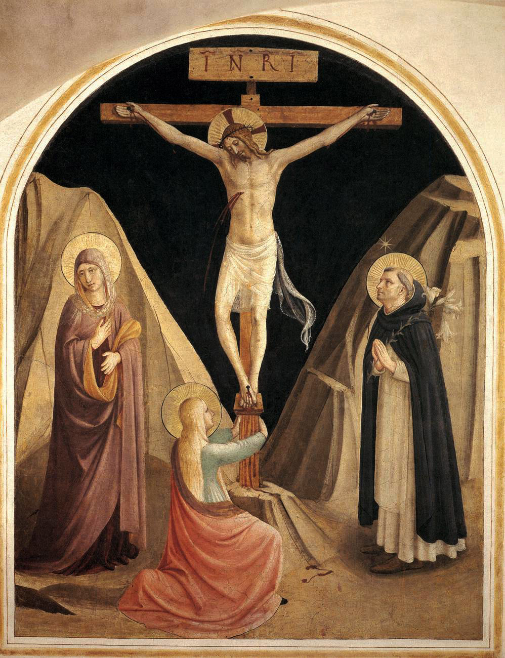Crucifixion with the Virgin Mary Magdalene and St. Dominic